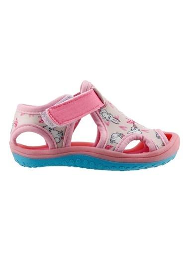 Ayakland Ayakland Kids Resimli Aqua Kız Çocuk Sandalet Panduf Ayakkabı Pembe